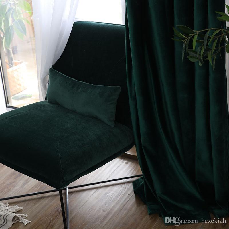 Vorhang fertiges einfache moderner Schlafzimmer Schatten Samt niederländischen Samt hochwertige Verdickung neuen Flanell Nordic Tuch