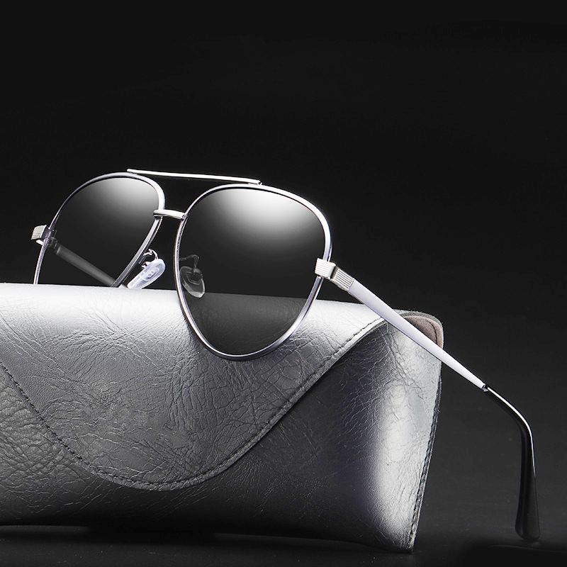 Gafas de sol para hombre Uv400 Gafas polarizadas Gafas Vintage Sombras para mujeres Retro de conducción Moda Negro Diseñador de la marca Polar Pilot