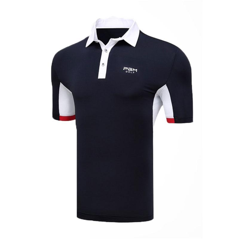 PGM Hommes d'entraînement de golf à manches courtes T-shirt Fitness Chemises été rapide Respirant sec Slim Chemises sport AA11820