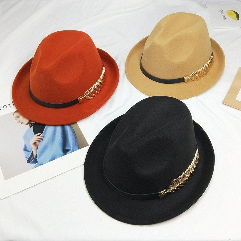 Ceinture de sertissage jazz chapeau automne et hiver chapeau de laine shopping visor top jeunesse sauvages hommes et femmes marée