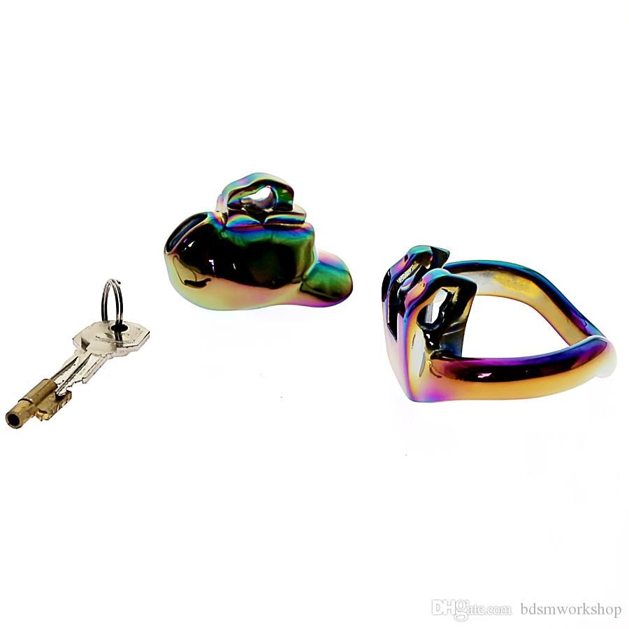 레인보우 HT V3 COCK CAGE MICRO 작은 정조 장치 NEW V3 너브 STEEL VERSION 정조 케이지 장치 BDSM 장난감