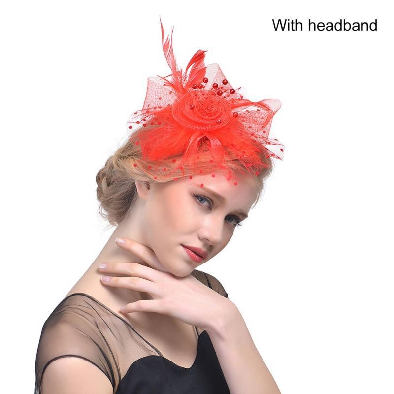 Mode Braut Net Feder Hüte Birdcage Net Hochzeit Stirnband Mützen Brautfascinator Gesicht Partei Hochzeit Haarschmuck