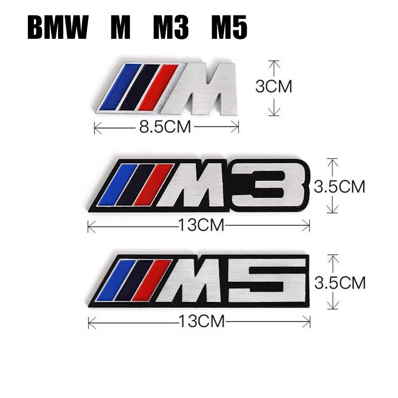 POWERED BY BMW MOTORSPORT METAL ALUMINIUM STICKER DECAL 3D INTERIOR EXTERIOR