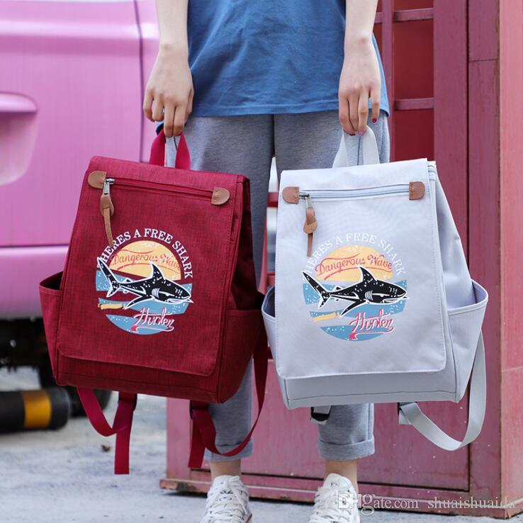 2019 Outdoors packs Backpack Fashion knapsack Computer package Big canvas Handbag Travel bag Sport&Outdoor Packs Laptop bag Schoolbag Q505