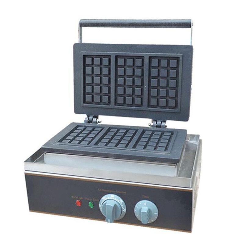 BEIJAMEI Factory Electric Square Bélgica Waffle Maker Iron Machine Comercial antiadherente 110V 220V Rectangular Waffle maker