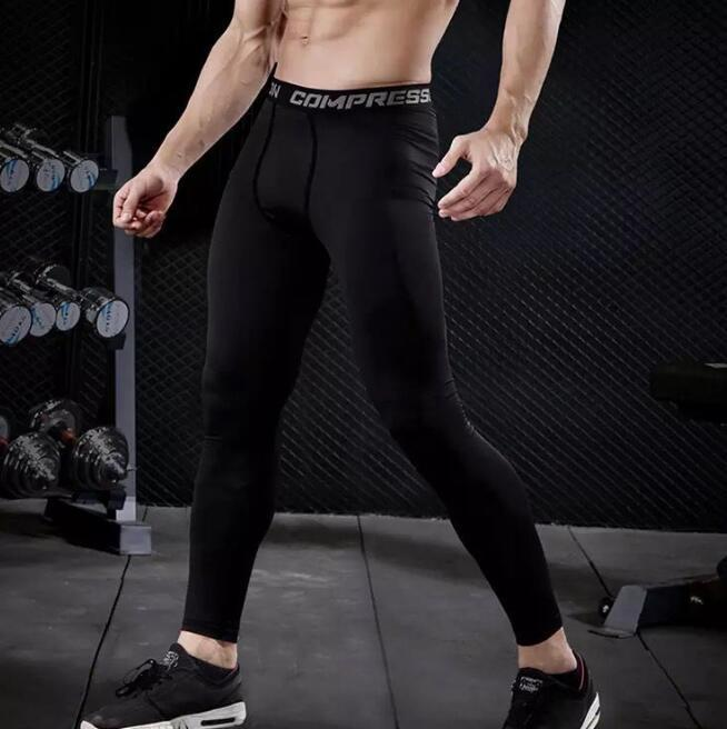 Mens Compression Pants Joggers Sports Tights Basketball Gym Pants Bodybuilding Running Men Fitness Skinny Leggings Trousers Full Length New