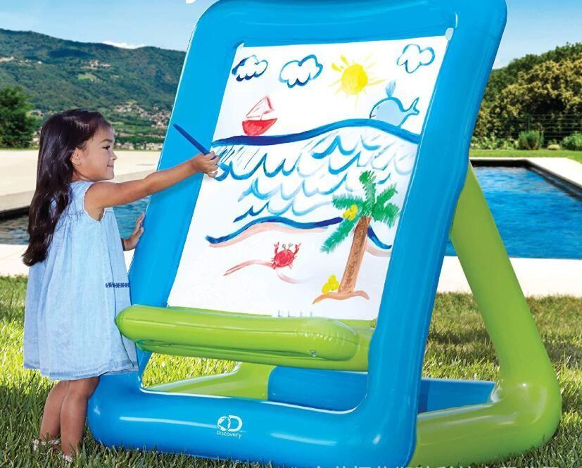 Gonfiabile Cavalletto materiale PVC facile portare tavola da disegno cavalletto set ripetuti lavaggi della tavola da disegno bambini giocattoli esterni di trasporto del DHL