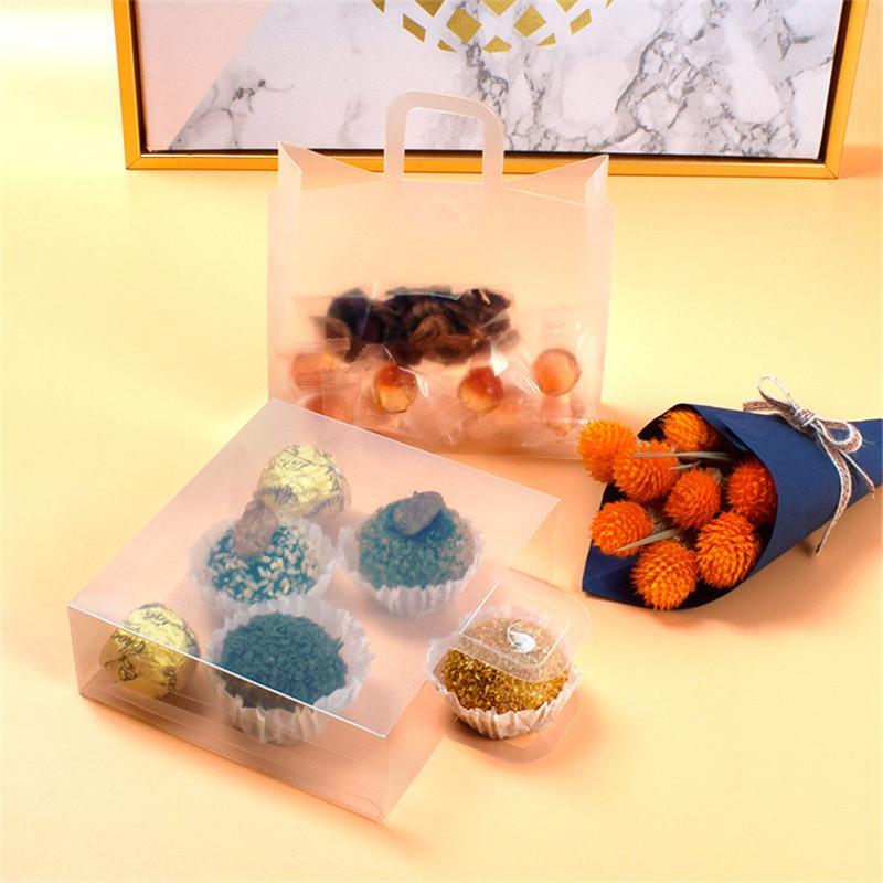 Trasparente Finestra Candy biscotto che attaccatura del fiore Bag Matrimonio Favore a mano per il regalo Decora Bag yq01826