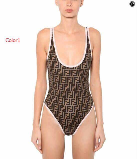 Verão quente Designer uma peça Swimsuit Mulheres Luxo Bikini Set marca de moda Swimwear com FF Cartas Suits Senhora Backless banho