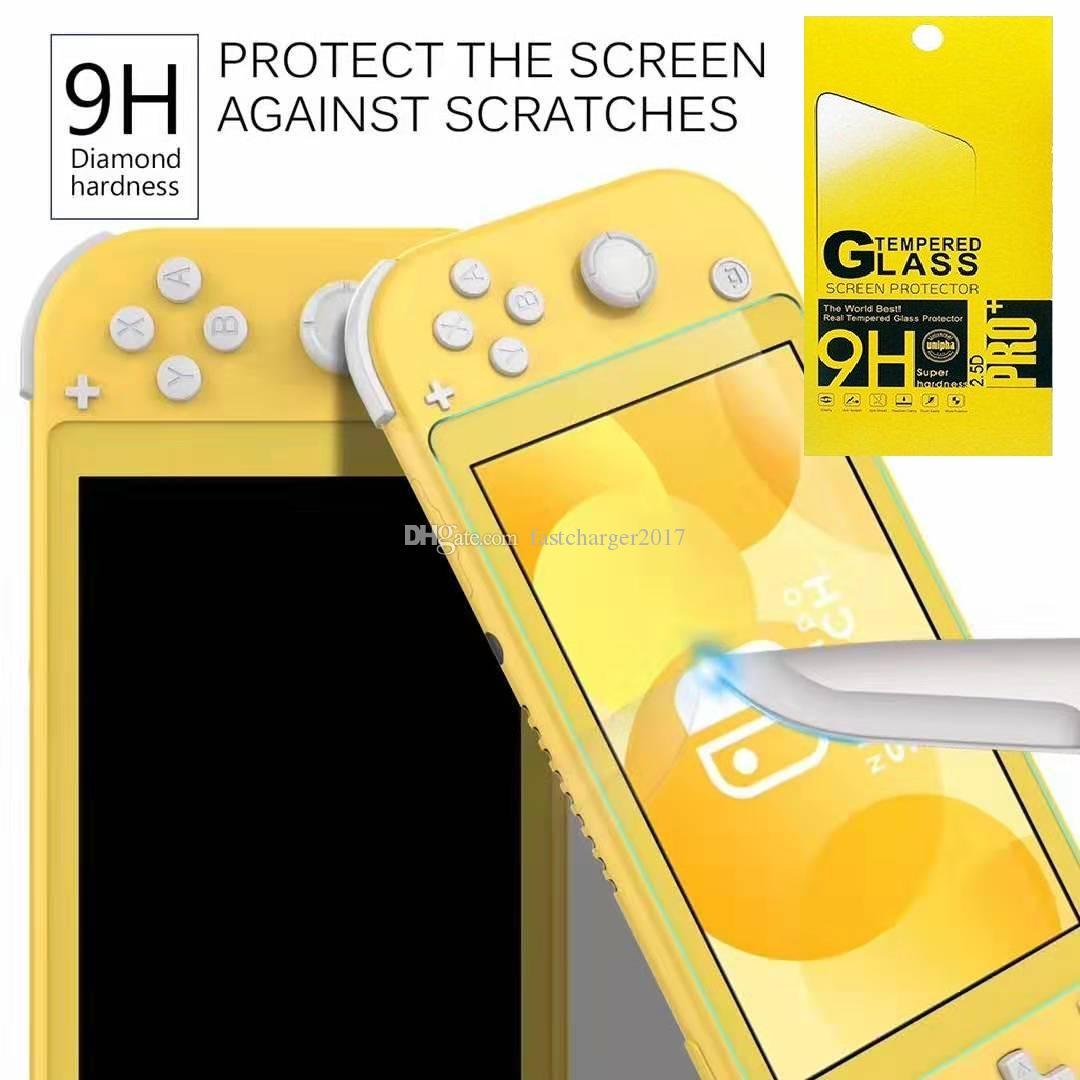 Para Nintendo Switch Lite 9h Vidro Temperado HD Anti-Scratch Scratch Scratch Scratch Scratch Protetor 100 pçs / lote no pacote de varejo