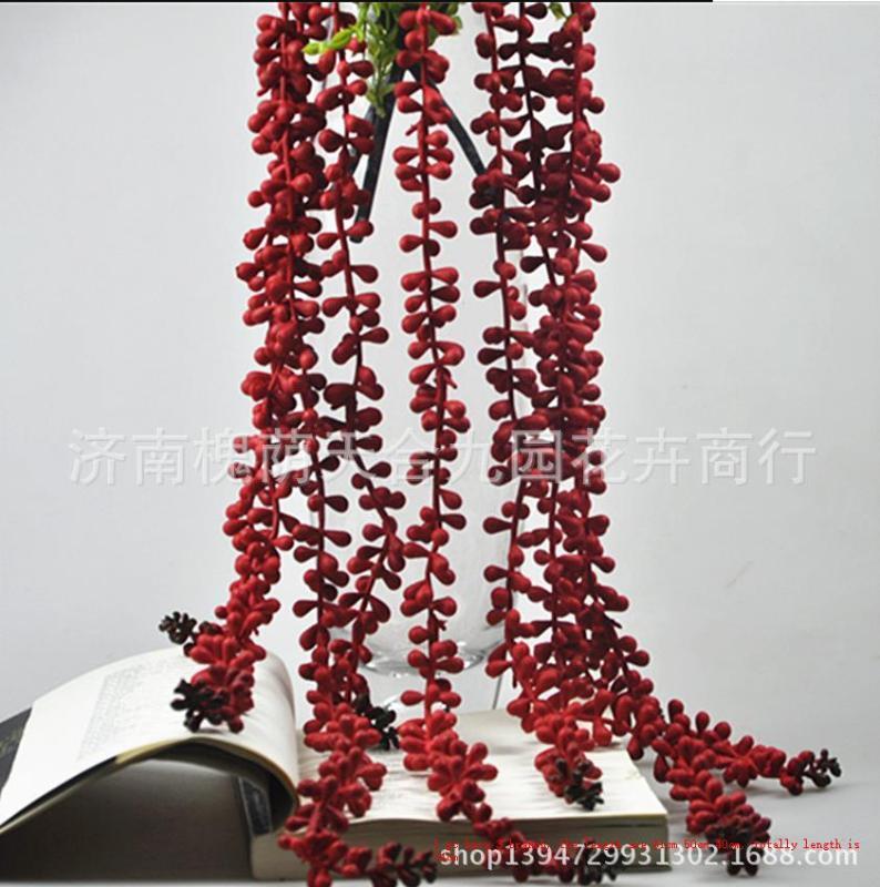 Lágrima colgante de amor con encanto en la decoración de la boda Party Pared hierba artificial Decoración Decoración Flor