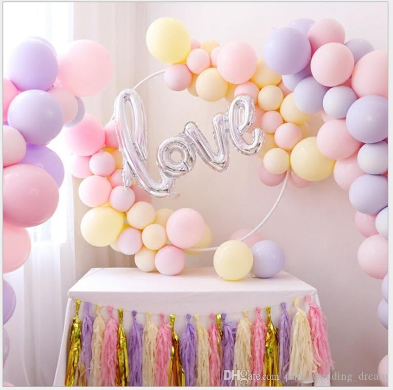 25CM 100 Pieces Macaron Latex Balloon for Children's Birthday Party Decoration For wedding Event Balloons