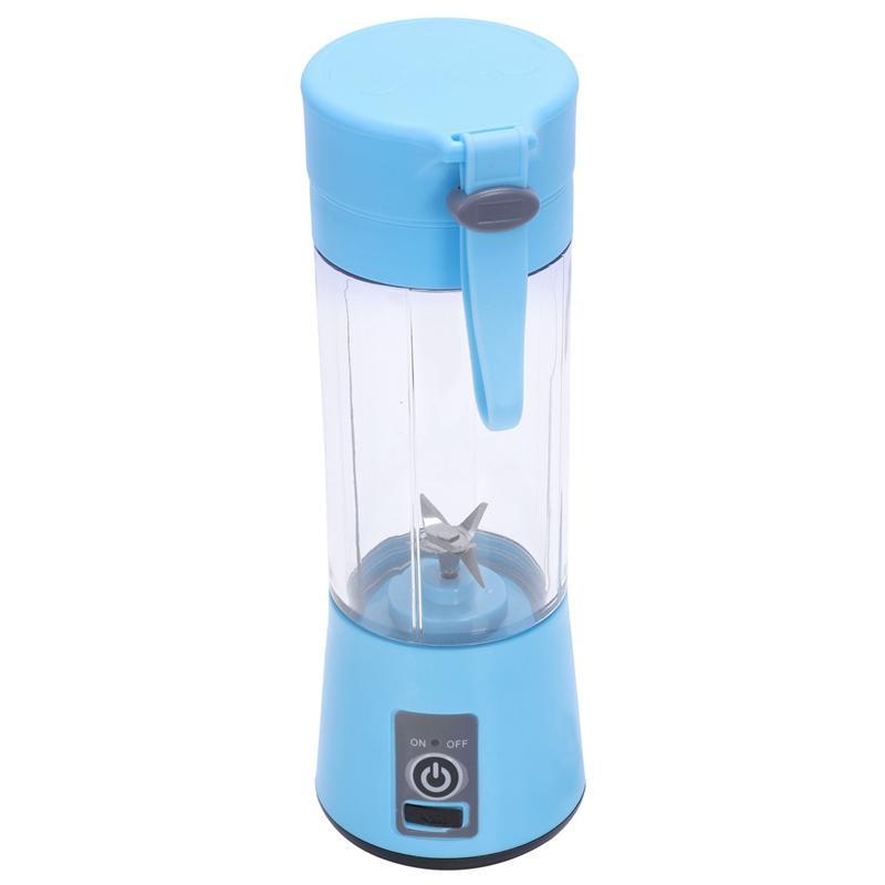 380Ml Usb Rechargeable Blender Mixer 6 Blades Juicer Bottle Cup Juice Citrus Lemon Vegetables Fruit Smoothie Squeezers Reamers