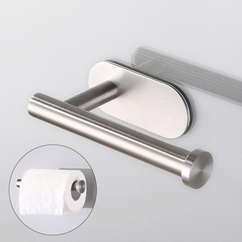 Soporte de papel higiénico para montaje en pared Baño de acero inoxidable Papel de cocina rollo Accesorios para toallas de tejido Accesorios para bastidores