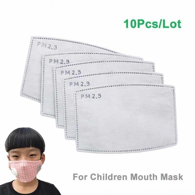 a3nMi ребенок PM2. 5 Фильтр дымка рот маски для лица Маска сменный фильтр-срез 5 слоев нетканый 10.2*7 см дети активированный уголь анти 10 шт. / компл.