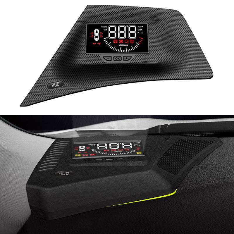 HUD voiture Head Up Display Pare-brise Vitesse Projecteur de sécurité Alarme survitesse RPM tension pour Mitsubishi Eclipse Cross 2018-2020