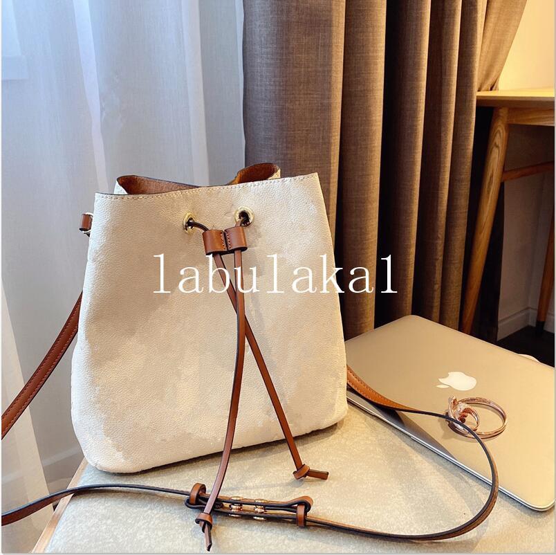 2021 women's Fashion Bucket Bag High Quality Genuine Leather Shoulder Bag Classic Design Crossbody NEONOE Bags Lady Handbags dust bag