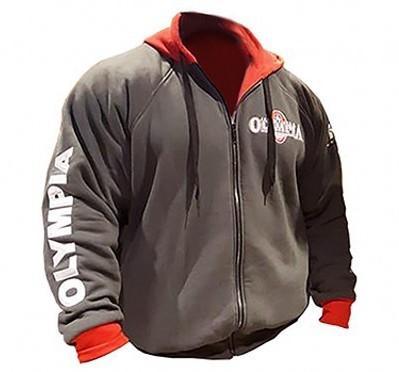 19Men Salles de sport Salles de sport Fitness Hoodies Lettre culturisme Imprimer Sweat-shirt sport Homme Workout capuche Vêtements Veste