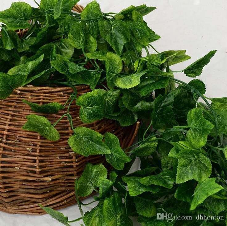 Artificial plant leaf High simulation artificial lvy leaves garland vine /mini flower wreath for landscape decorations