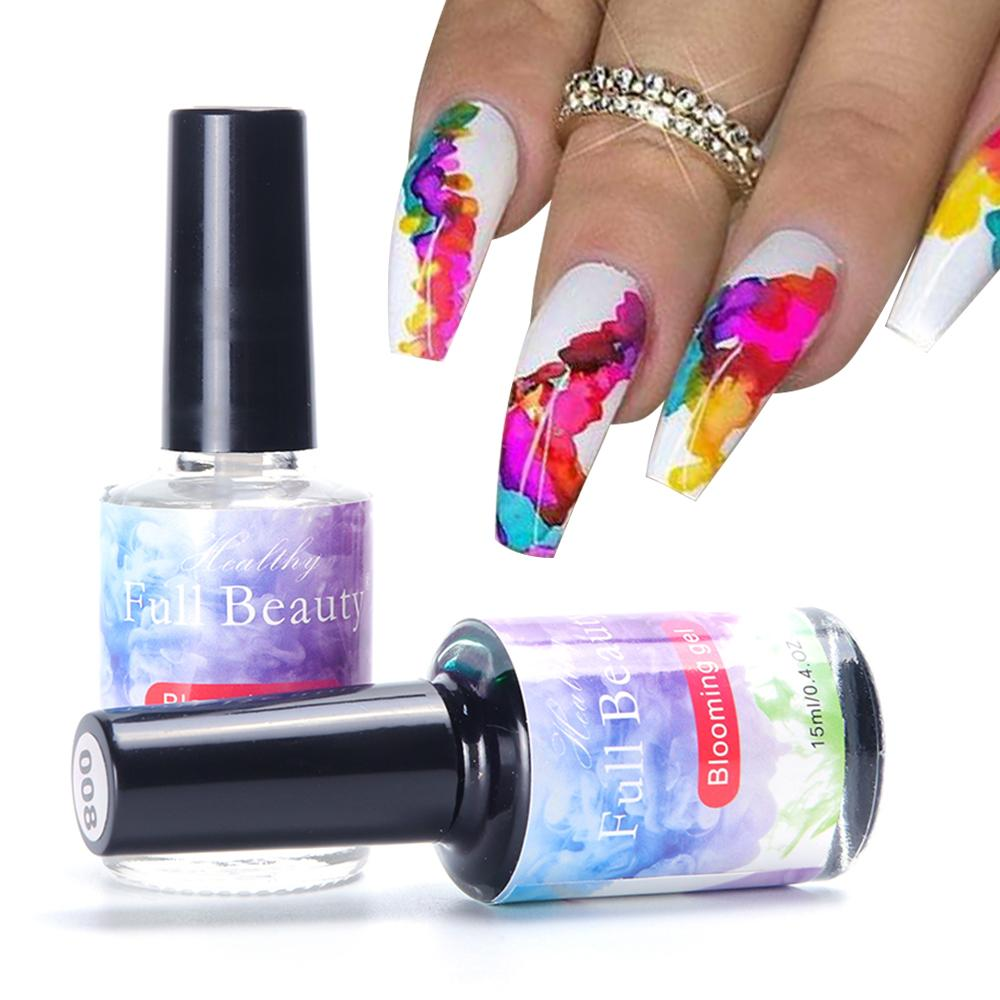 15ml Marbre Floraison Gel Aquarelle Encre Vernis À Ongles Effet De Fumée Bloom Laque DIY Décor Nail Art Vernis Salon Design LY895