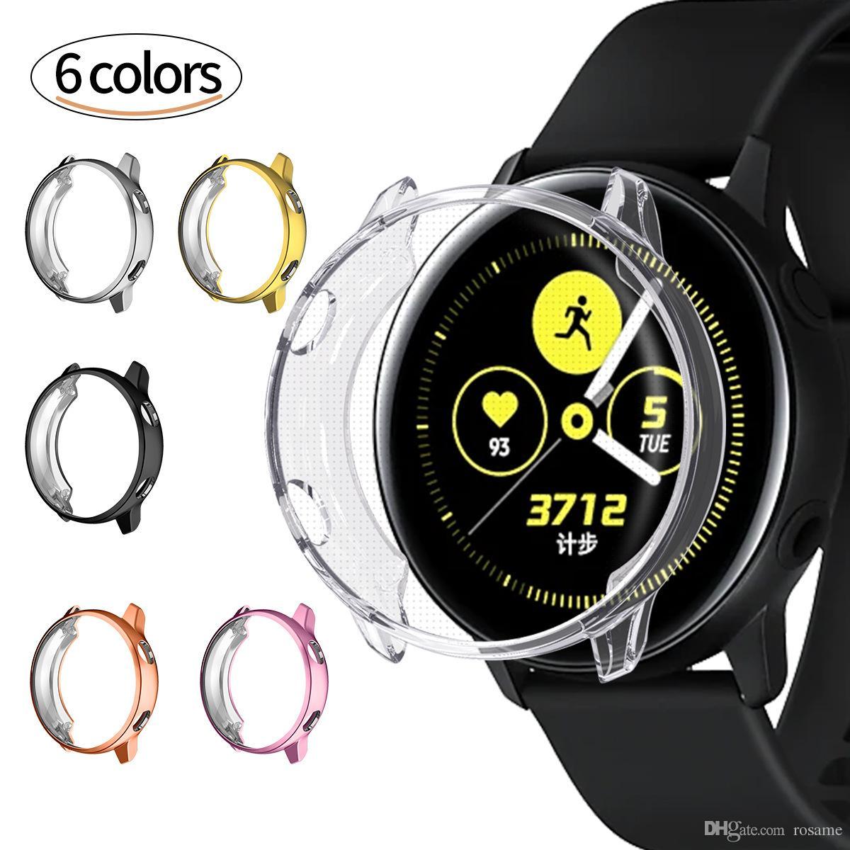 Relógio inteligente manga protetora TPU banhado a caixa anti-queda para Samsung Galaxy Watch Active Watch Dial 46MM