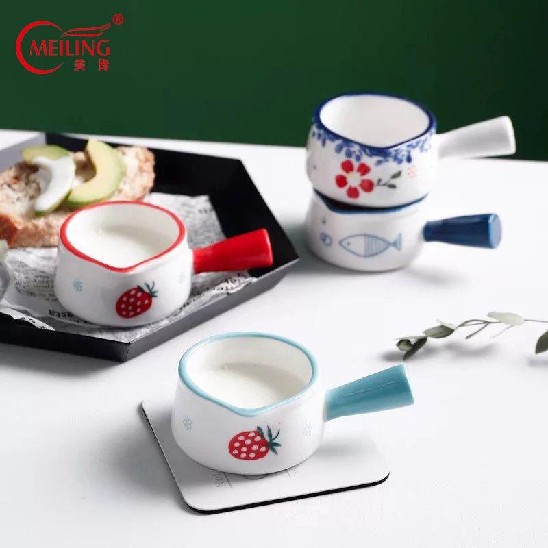 Pintado a mano de cerámica Jar Sugar Bowl Pequeño Honey Pot decorativo Jarra de leche de porcelana linda Contenedor de cocina Decoración Accesorios de café