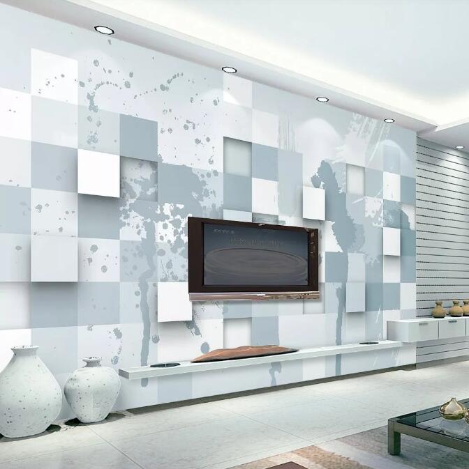 [Самоклеящийся] 3D геометрические WG0750 обои настенная роспись стены печать наклейка настенные росписи Музи