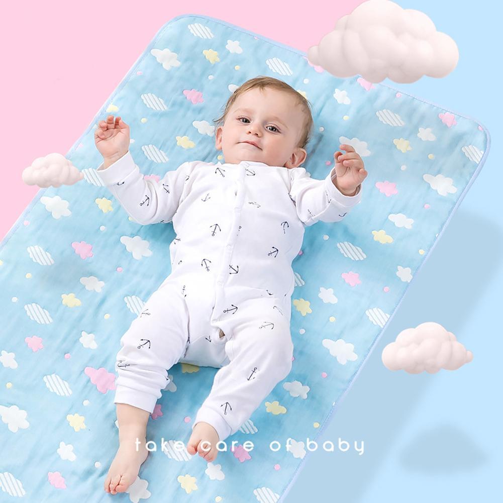 Bebê Fralda em mudança almofada de algodão Ecologic Mudança do tecido Tabela do bebê dos desenhos animados Folha de cama de colchão impermeável