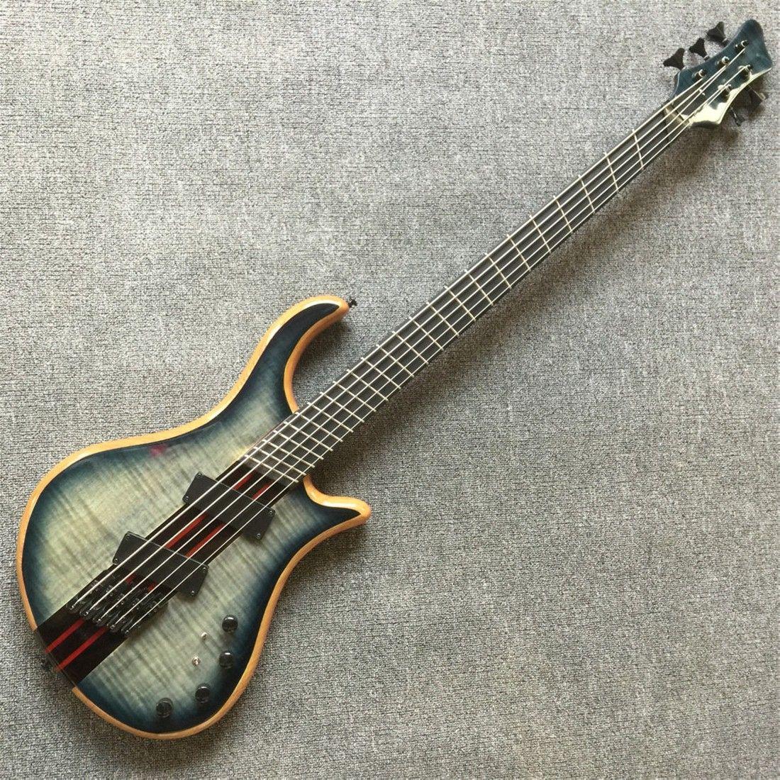 Guitare basse électrique 6 cordes corps en érable 1 manche micros actifs basse Guitare Basse instruments de musique