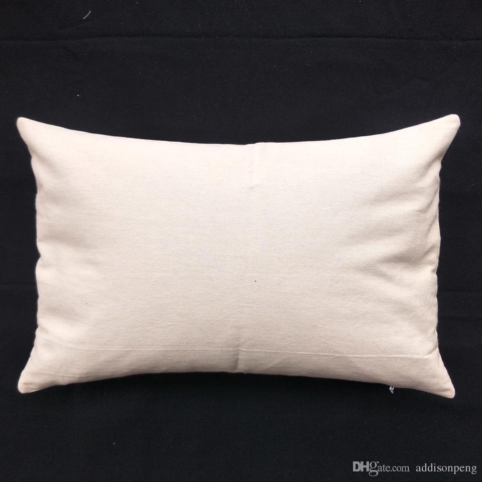 55 adet / grup 11x17in saf doğal pamuk boş kereste yastık örtüsü için DIY boya / baskı doğal pamuk dimi dekoratif kereste yastık örtüsü