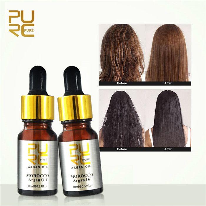 Purc 10ml Saç Bakımı Fas Saf Argan Yağı Yüksek Kalite Kıllar Bakım Yağı Tedavisi Tüm Kıllar Türleri Saç Derisi Tedavi İçin