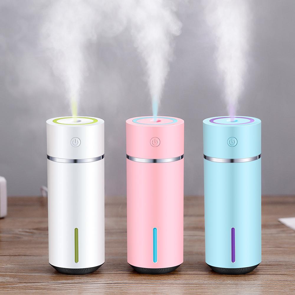 240ML humidificador de aire mini difusor de aceites de aromaterapia ultrasónico Esencial con 7 color luz de la noche del coche de Aromatherapy humidificador