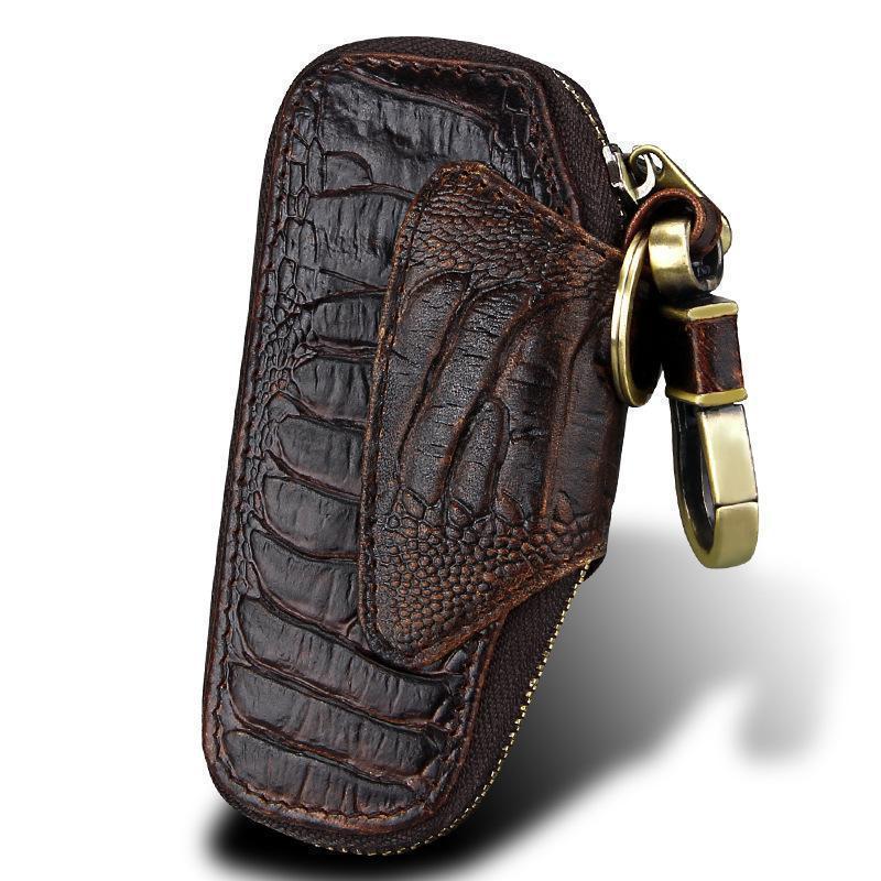 Pop2019 Прибытие из натуральной кожи Solid Box Ключи кошельки для мужчин Vw Key Case Kia