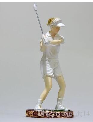 Euro-style StudioGolf Skulptur Figur Europäischen wohnzimmer TV Sport Golf Büro Dekoration Handwerk veranda