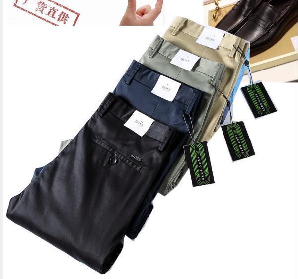 Frühjahr / Sommer 2020 neue Männer beiläufige Hosen europäischer und amerikanischer Außenhandel Tencel Modal Cotton Elastic Gerade lose Hosen der Männer