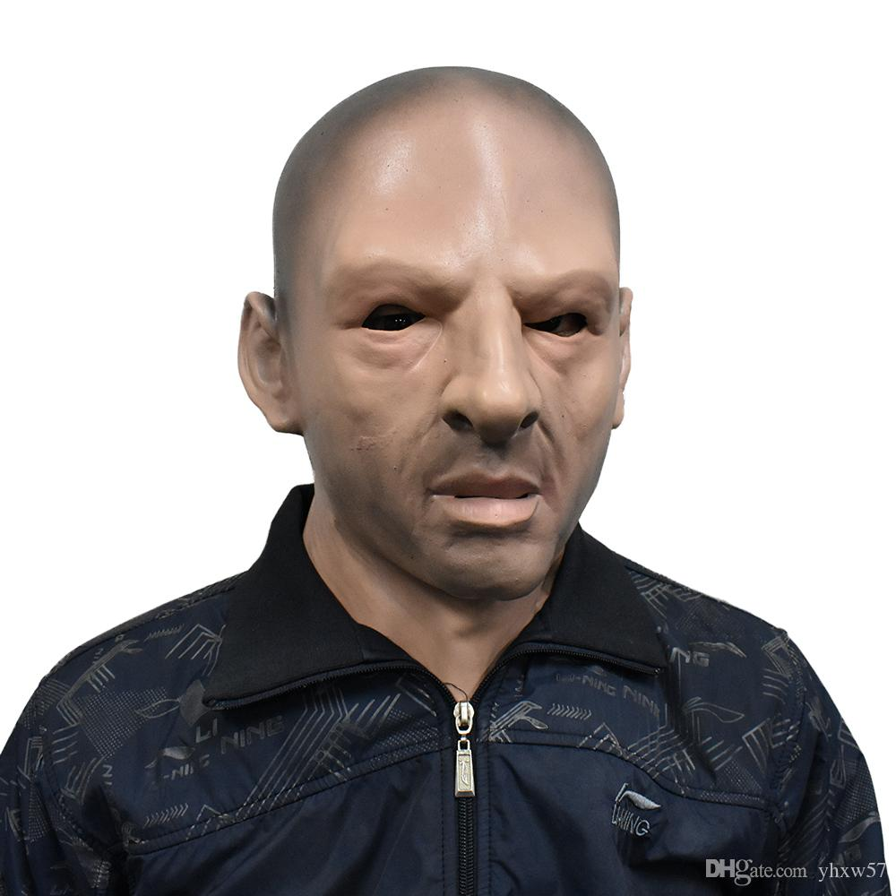 Realistic Man Mask Old Male Disguise Costumes for Halloween costumes