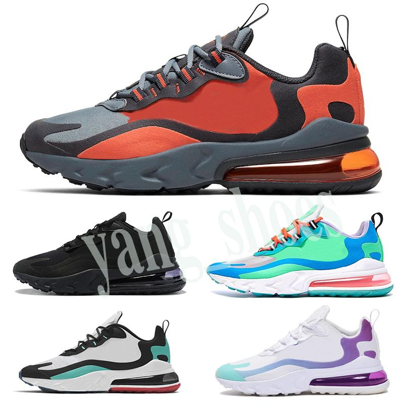 Nike Air Max 270 React degli uomini reagiscono runningg scarpe triple Nero Bauhaus destra Viola Reggae Mare Verde ottico Mens Scarpe Da Ginnastica Sport Sneakers runners y06