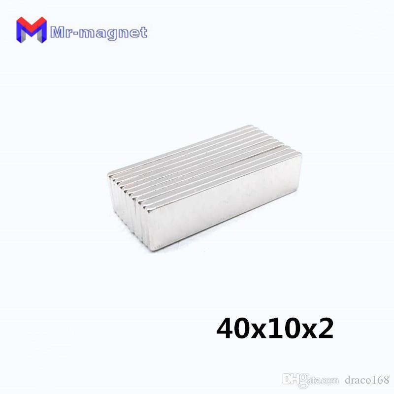2019 imanes imanes de nevera fridge 20pcs 40x10x2mm rare earth permanet magnet powerful block neodymium magnets 40*10*2 40x10x2 for motors