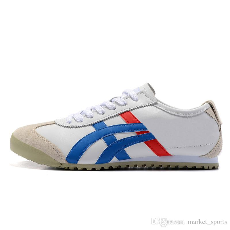 new product ea4b2 0e709 2019 Jogging Leather Asic Onitsuka Tiger Mexico 66 Trainers Mens Sneakers  Black White Womens Tennis Shoes Gold OFF Red Yellow Sport Shoes From ...
