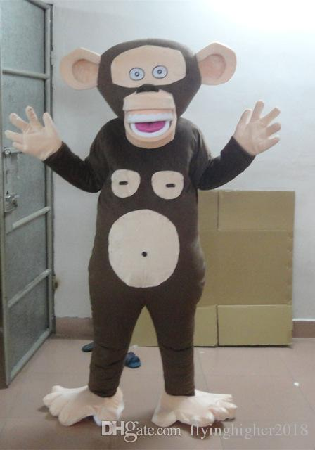 Professional custom Monkey Mascot Costume Character Funny monkey Mascot Clothes Christmas Halloween Party Fancy Dress