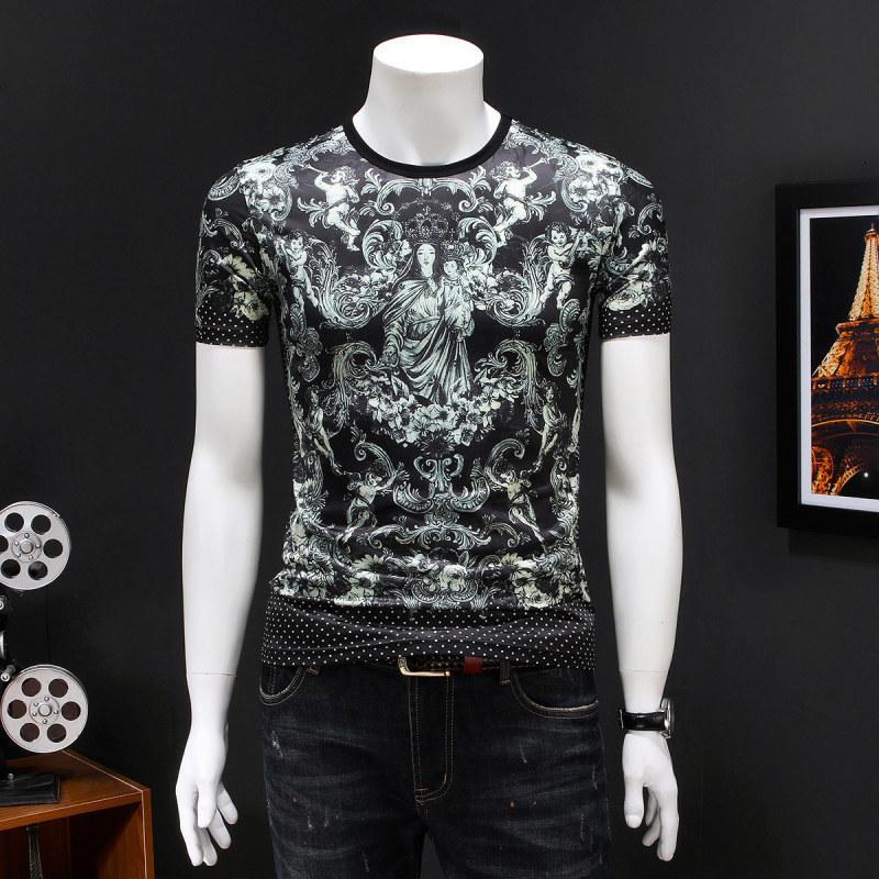 2020 высокое качество мужчины с короткими рукавами летняя мода футболка повседневная удобная круглая шея футболка модная одежда FM11