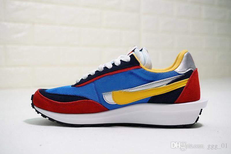 Con BOX SacaiS x LVDS internacionalista de Waffle Daybreak Run Shoes diseñador atlético Trainer Sports Running Shoes para mujeres hombres zapatillas de deporte