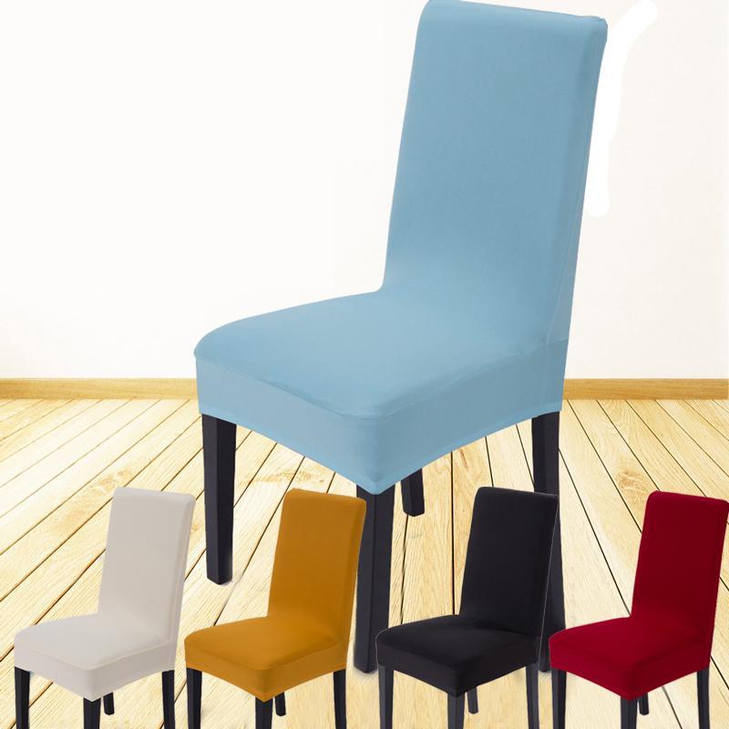 Decoração da sala de jantar Cadeira Jacquard Cobre Spandex Tecido Lavável Na Máquina Do Hotel Festa de Casamento Cadeira Banquete Slipcovers