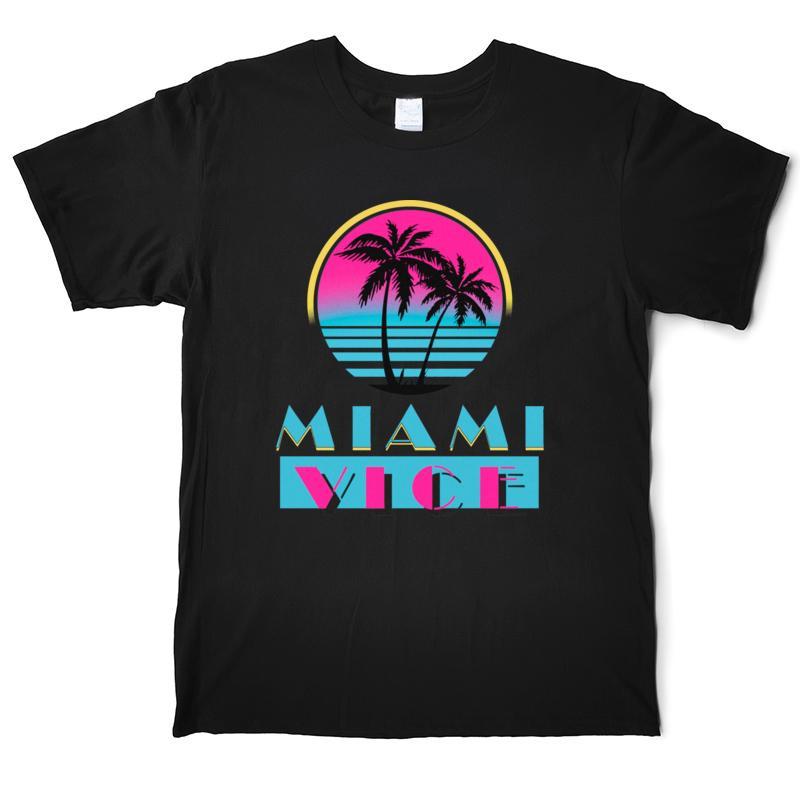 Tops Miami Vice 22695 uomini della maglietta divertente al 100% T shirt in cotone T-shirt manica corta O'Neck Via XS-3XL casuale stampati