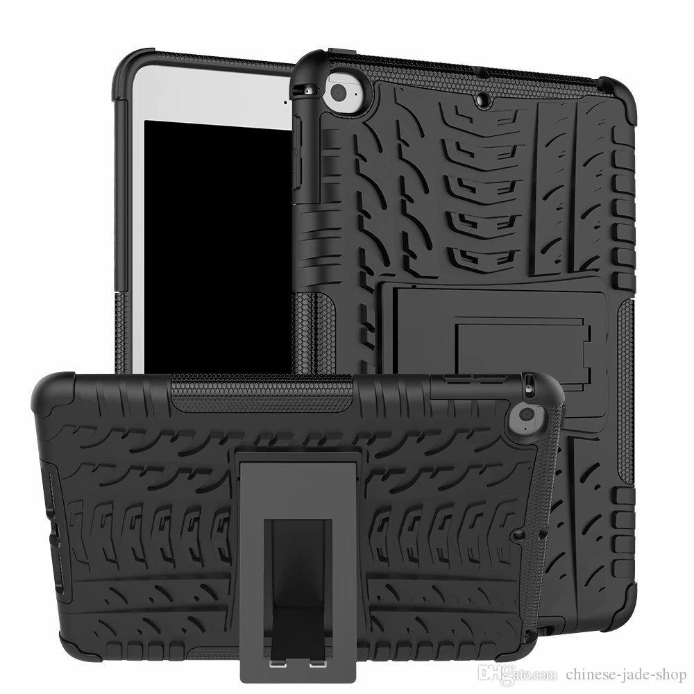Robot 2in1 Kickstand Impact Rugged Heavy Duty TPU + PC Hybrid Cover Case voor iPad Mini 6 5 4 3 2 1 68 stks / partij