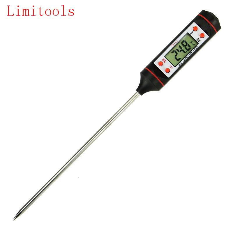 Limitools Novo Termômetro De Carne Cozinha Digital Probe Food Bbq Ferramentas De Cozinha Eletrônico Medidor de Temperatura Ferramenta C19041501