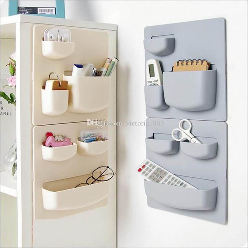 Wall Mounted Type Storage Rack Kitchen Storage Holder Bathroom Wall Punch-free Hang Shelf Home Sundries Organizer