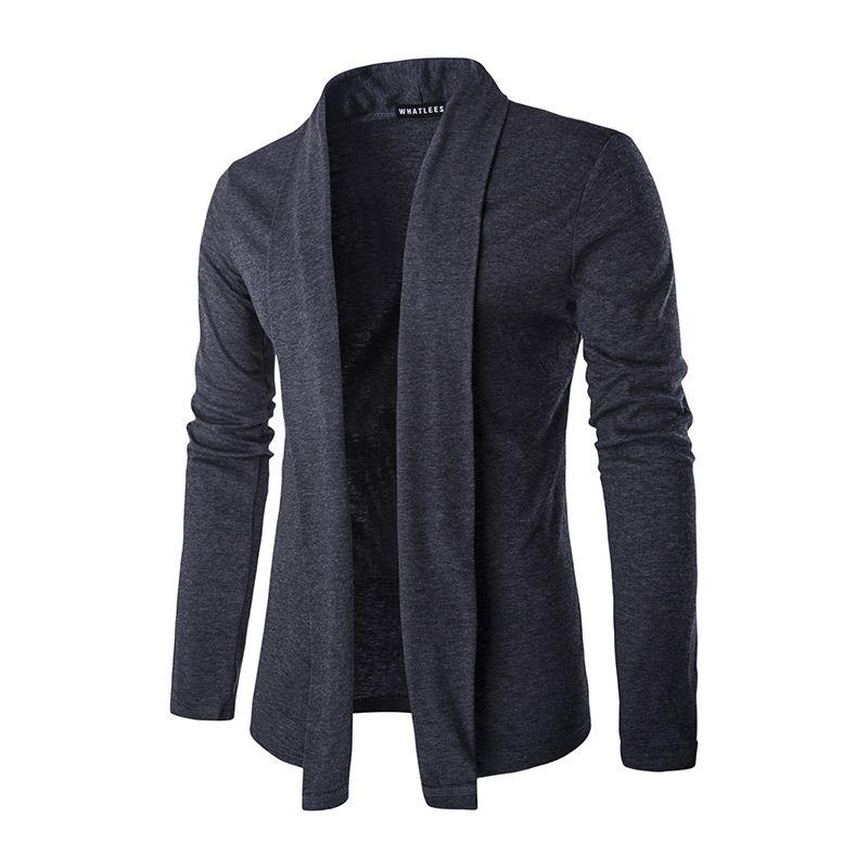 2017 New Autumn Winter Stylish Fashion Men Luxurious Slim Knitted Cardigan Male Jacket Slim Long Sleeve Casual Outwear Black Gray
