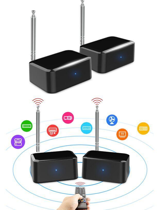 Wireless IR Remote Extender Transmitter Receiver with IR Remote Extender PAT-435 Adapter with Retail Package freeshipping