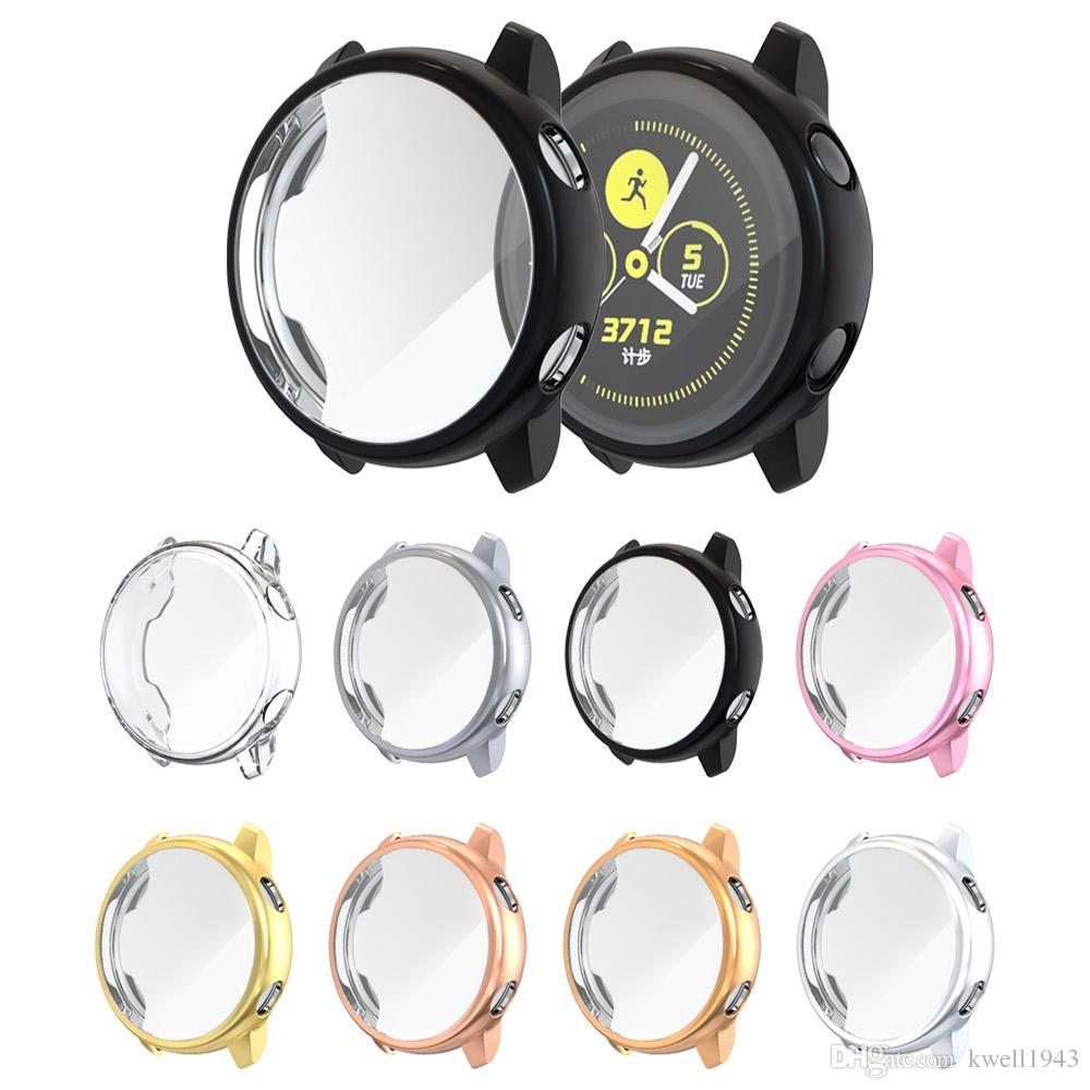For Samsung Galaxy Watch Active 40mm Slim TPU Full Screen Protector Protect Frame Case Cover